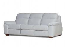 Белый кожаный диван Алабама (Alabama) раскладной