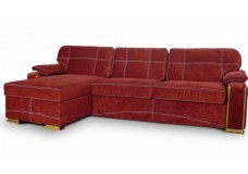 Красный велюровый диван Лексус