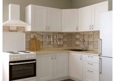 Угловая модульная кухня в маленькую квартиру