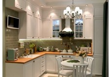 Белая кухня до потолка.Кухня Марсель, в стиле современная классика