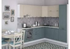 Кухня Марсель Слоновая кость и Северный голубой