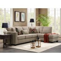 Современный бежевый угловой диван премиум класса в гостиную