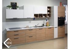 Кухня на заказ, с фасадами AGT/ Egger в алюминиевой рамке.