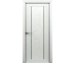 Интерьерные двери Весна белый (декор)