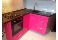 Кухня под заказ (Розовая) 3000х2000